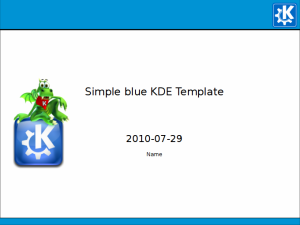 Simple Blue KDE