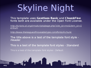 Skyline Night